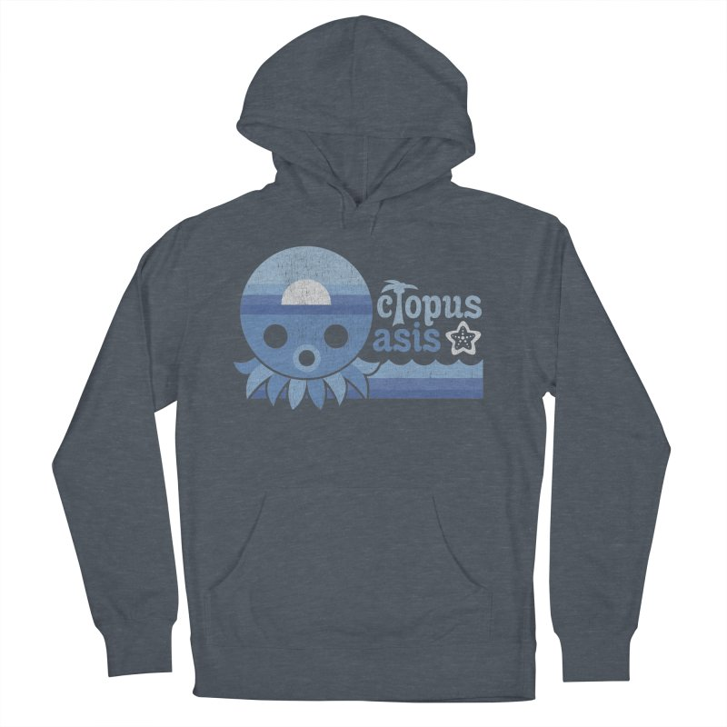 Octopus Oasis - Sea and Sky Men's Pullover Hoody by Kappacino Creations