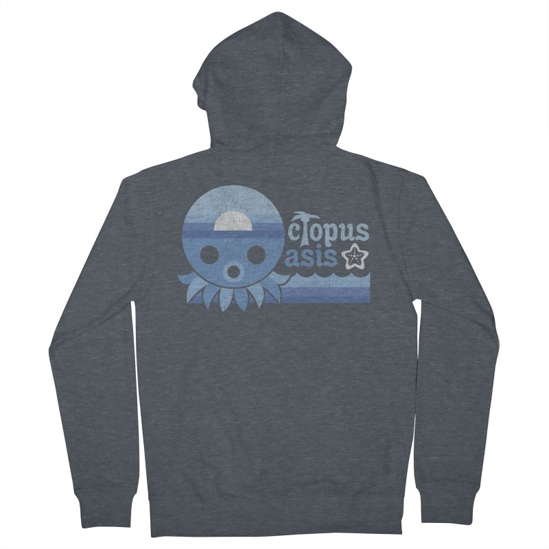 Octopus Oasis - Sea and Sky Men's French Terry Zip-Up Hoody by Kappacino Creations