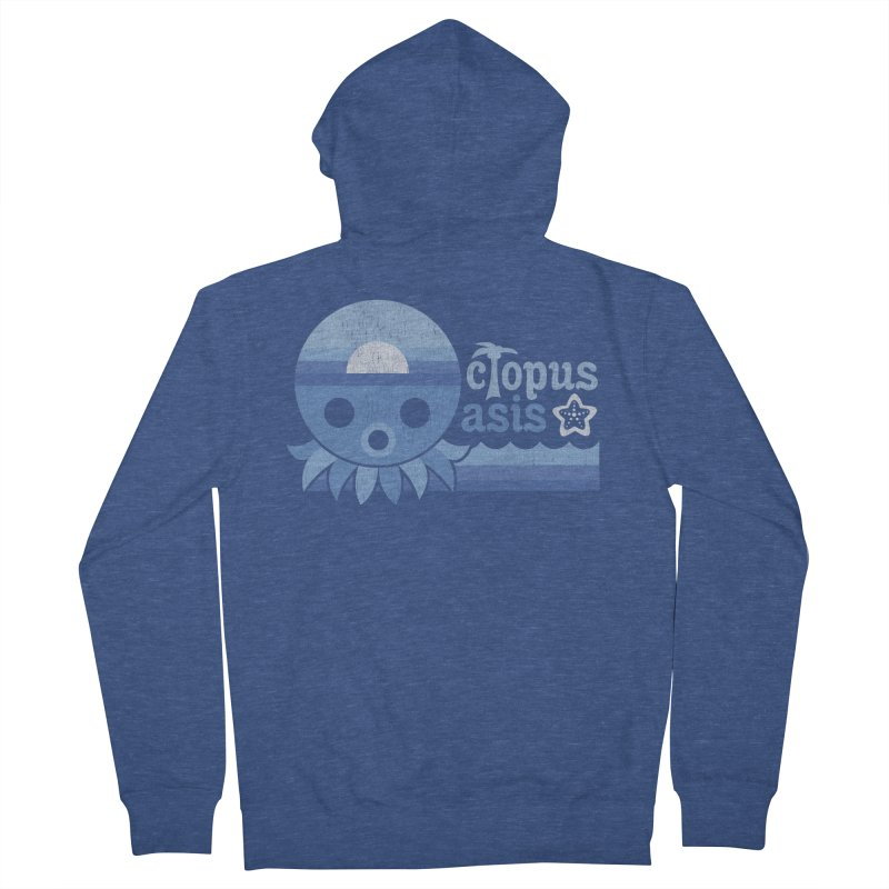 Octopus Oasis - Sea and Sky Men's Zip-Up Hoody by Kappacino Creations