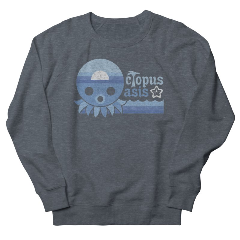 Octopus Oasis - Sea and Sky Men's French Terry Sweatshirt by Kappacino Creations