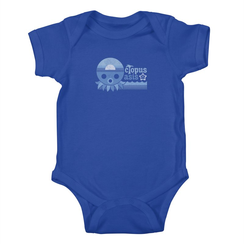 Octopus Oasis - Sea and Sky Kids Baby Bodysuit by Kappacino Creations