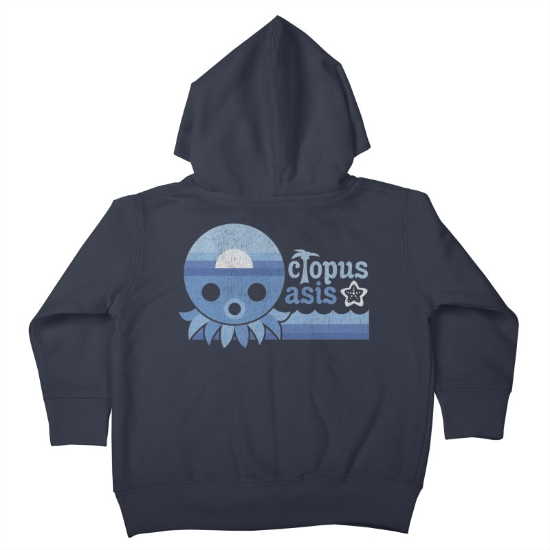 Octopus Oasis - Sea and Sky Kids Toddler Zip-Up Hoody by Kappacino Creations