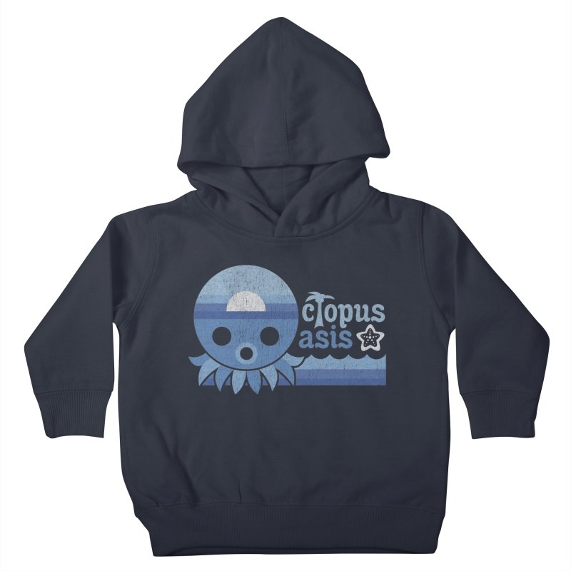 Octopus Oasis - Sea and Sky Kids Toddler Pullover Hoody by Kappacino Creations