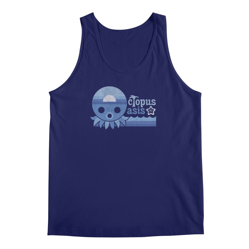 Octopus Oasis - Sea and Sky Men's Tank by Kappacino Creations
