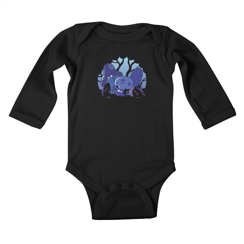 Mushrooms Kids Baby Longsleeve Bodysuit by Kappacino Creations