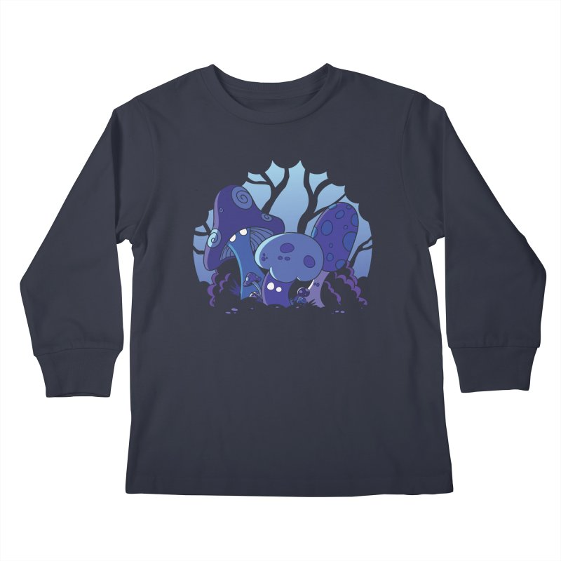 Mushrooms Kids Longsleeve T-Shirt by Kappacino Creations