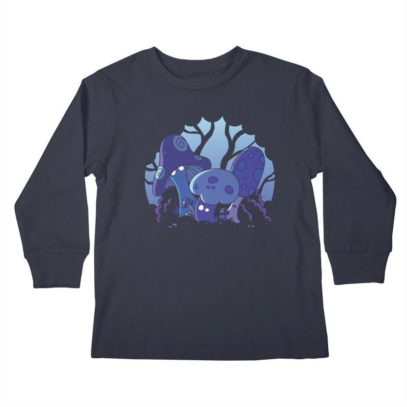 Mushrooms Kids Longsleeve T-Shirt by Kappacino Creations