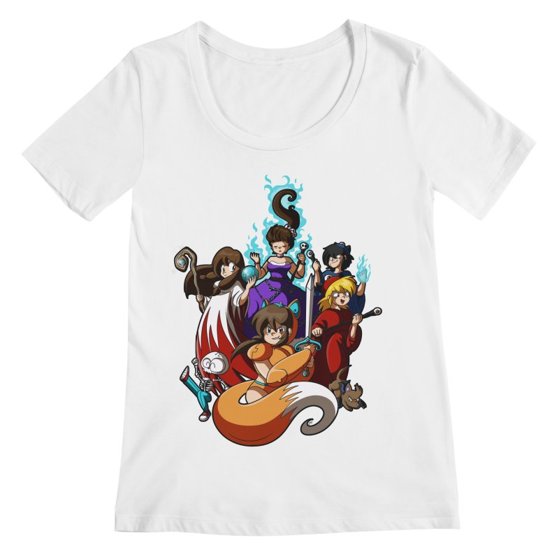 The Sword That Cuts Things Women's Regular Scoop Neck by Kappacino Creations