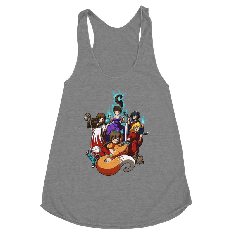 The Sword That Cuts Things Women's Racerback Triblend Tank by Kappacino Creations