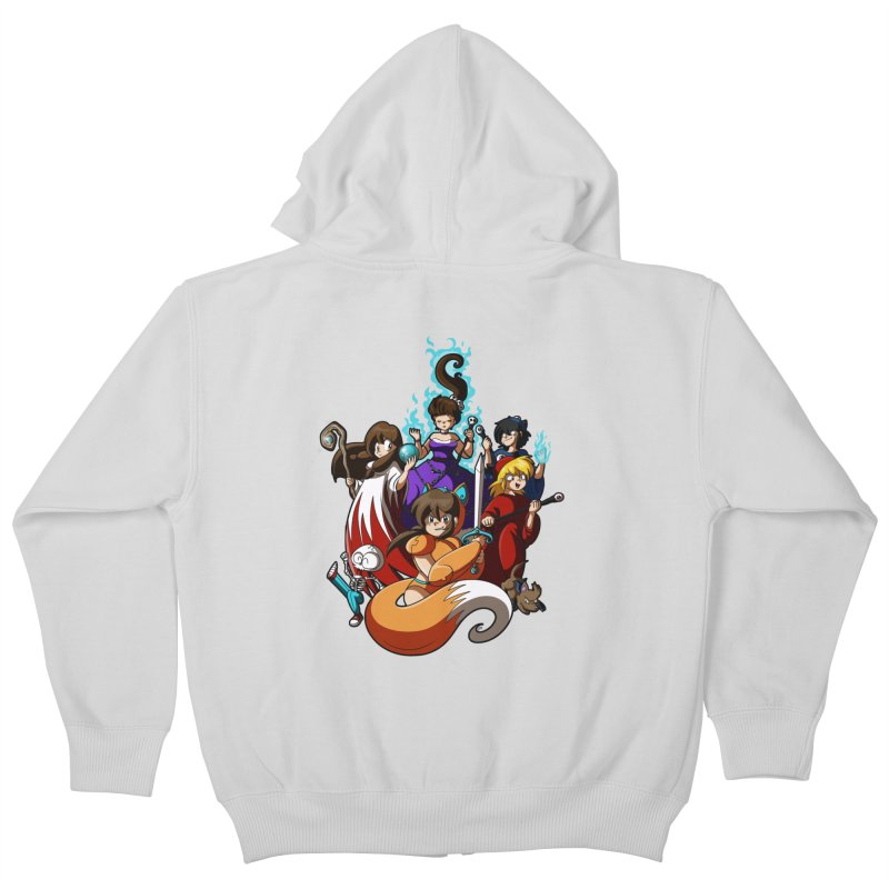 The Sword That Cuts Things Kids Zip-Up Hoody by Kappacino Creations