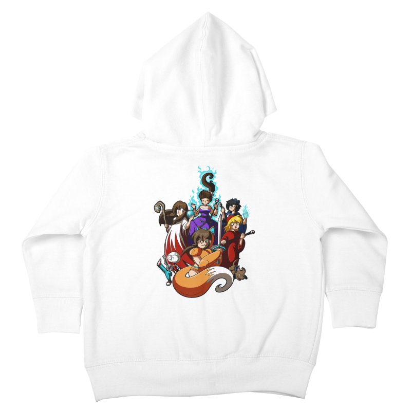 The Sword That Cuts Things Kids Toddler Zip-Up Hoody by Kappacino Creations
