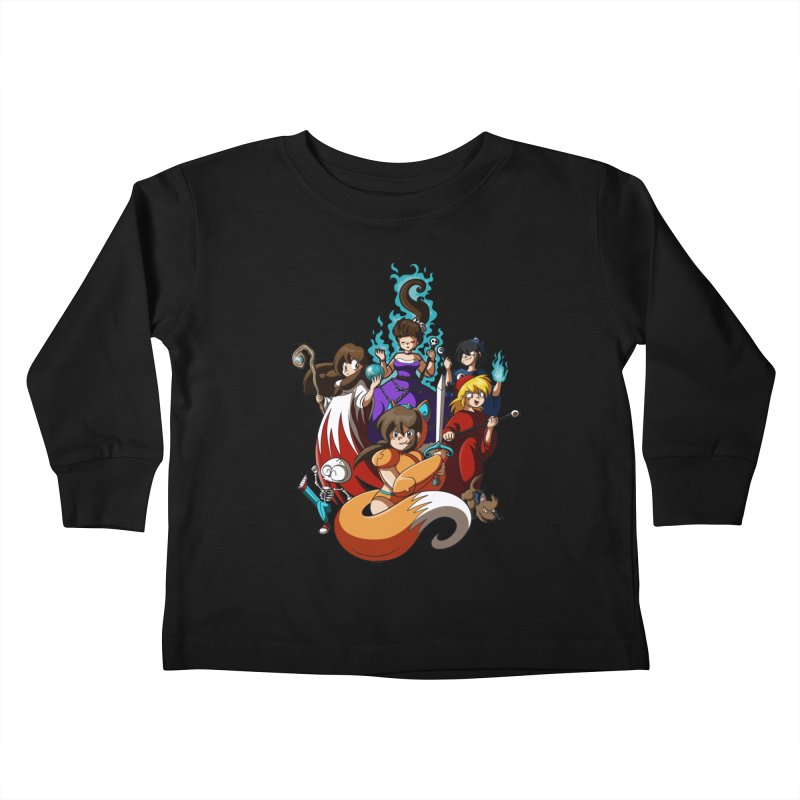 The Sword That Cuts Things Kids Toddler Longsleeve T-Shirt by Kappacino Creations