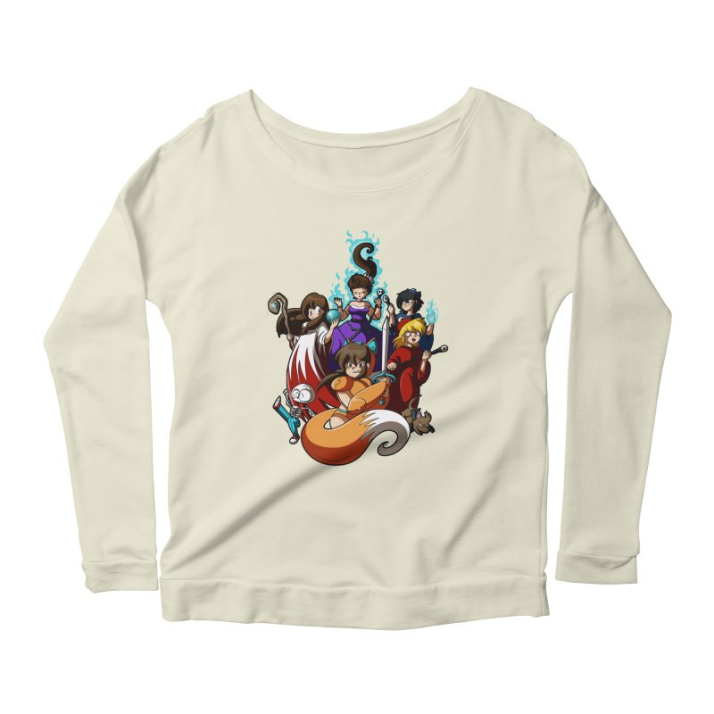 The Sword That Cuts Things Women's Longsleeve Scoopneck  by Kappacino Creations