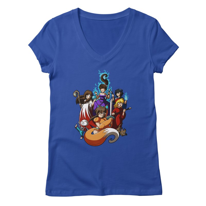 The Sword That Cuts Things Women's Regular V-Neck by Kappacino Creations