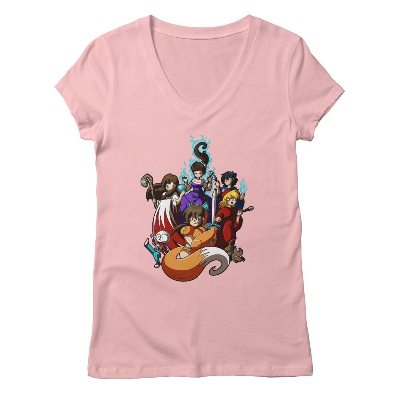 The Sword That Cuts Things Women's V-Neck by Kappacino Creations