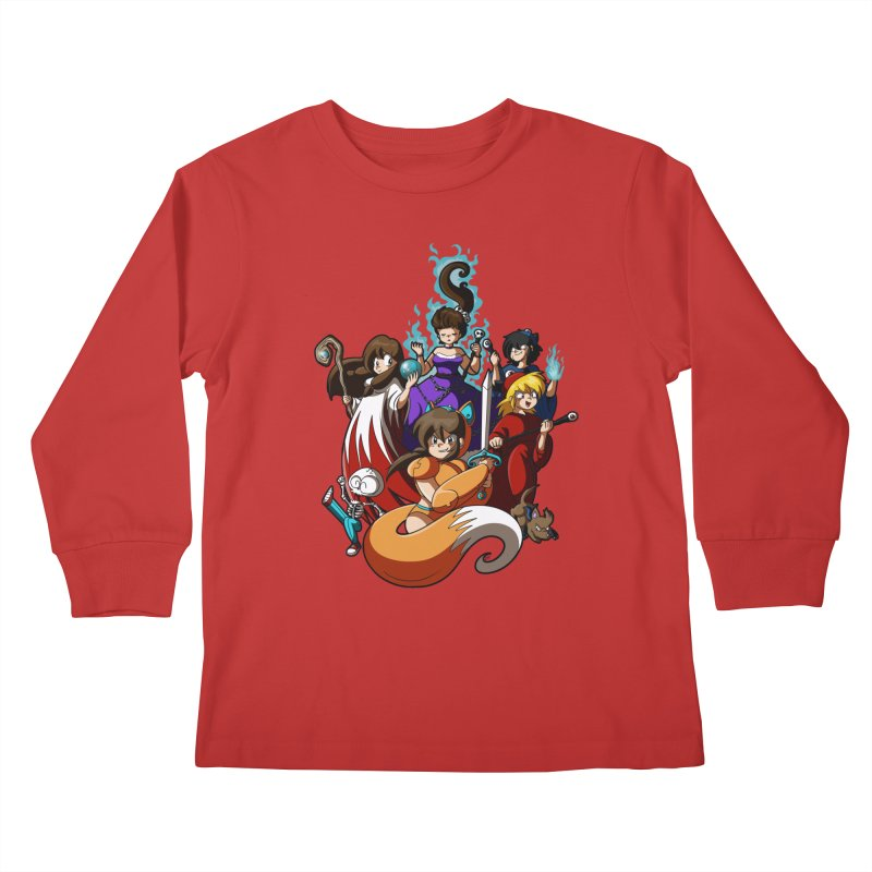 The Sword That Cuts Things Kids Longsleeve T-Shirt by Kappacino Creations