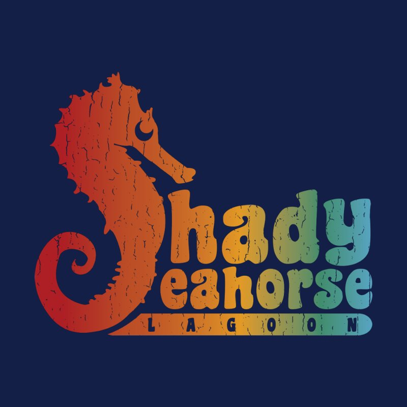 Shady Seahorse Lagoon Women's T-Shirt by Kappacino Creations