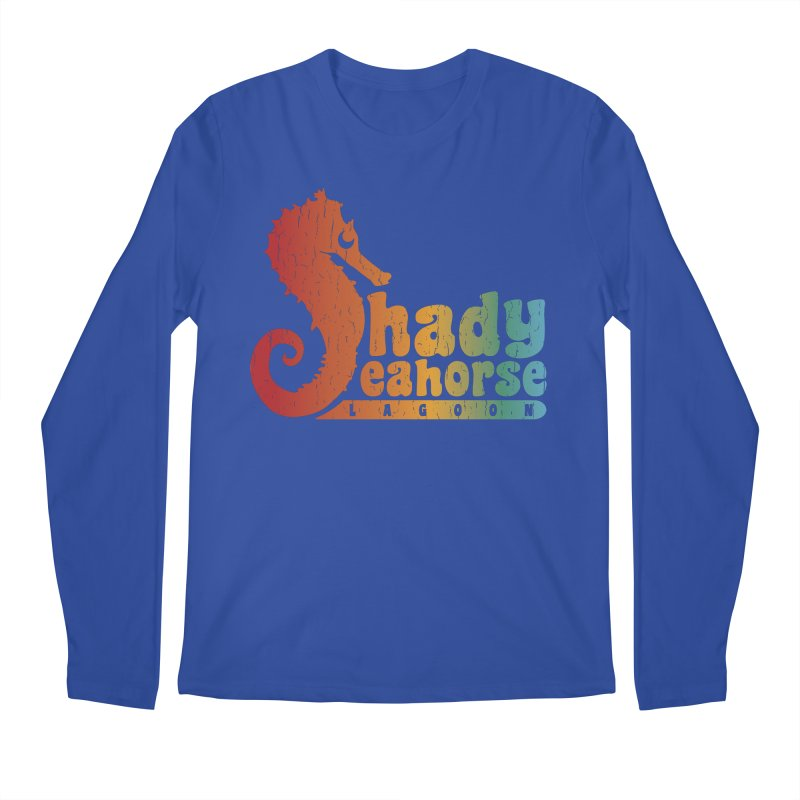 Shady Seahorse Lagoon Men's Regular Longsleeve T-Shirt by Kappacino Creations