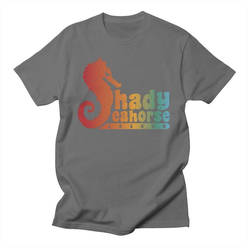 Shady Seahorse Lagoon Men's T-Shirt by Kappacino Creations