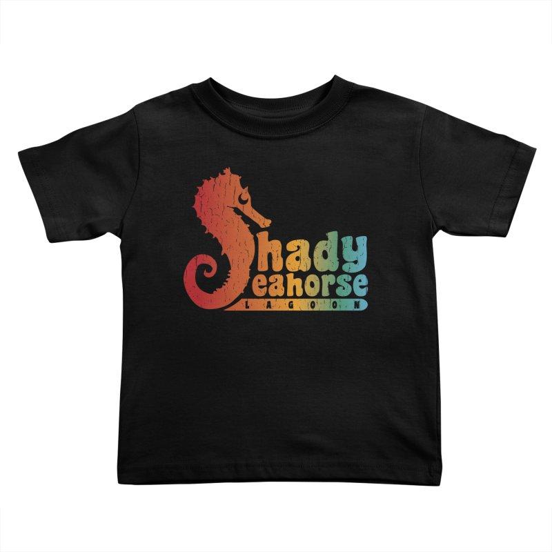 Shady Seahorse Lagoon Kids Toddler T-Shirt by Kappacino Creations
