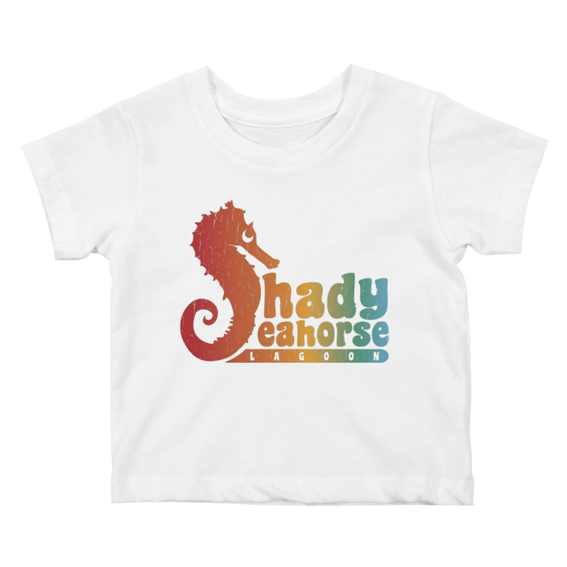 Shady Seahorse Lagoon Kids Baby T-Shirt by Kappacino Creations