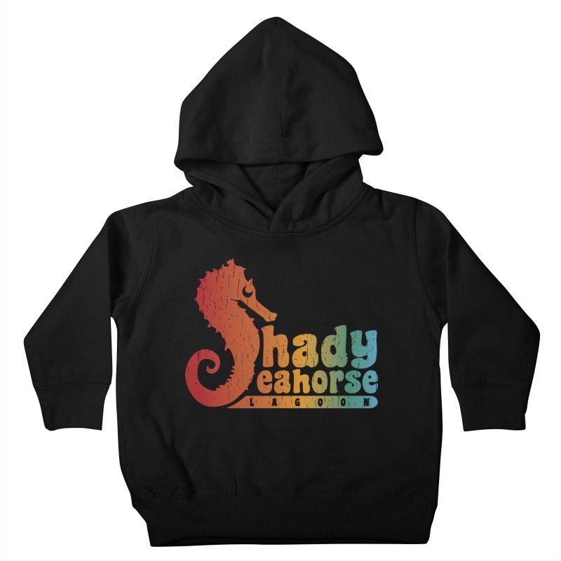 Shady Seahorse Lagoon Kids Toddler Pullover Hoody by Kappacino Creations