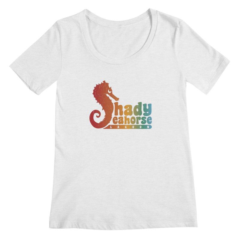Shady Seahorse Lagoon Women's Regular Scoop Neck by Kappacino Creations