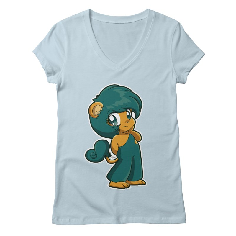 Orion the Lion Women's Regular V-Neck by Kappacino Creations