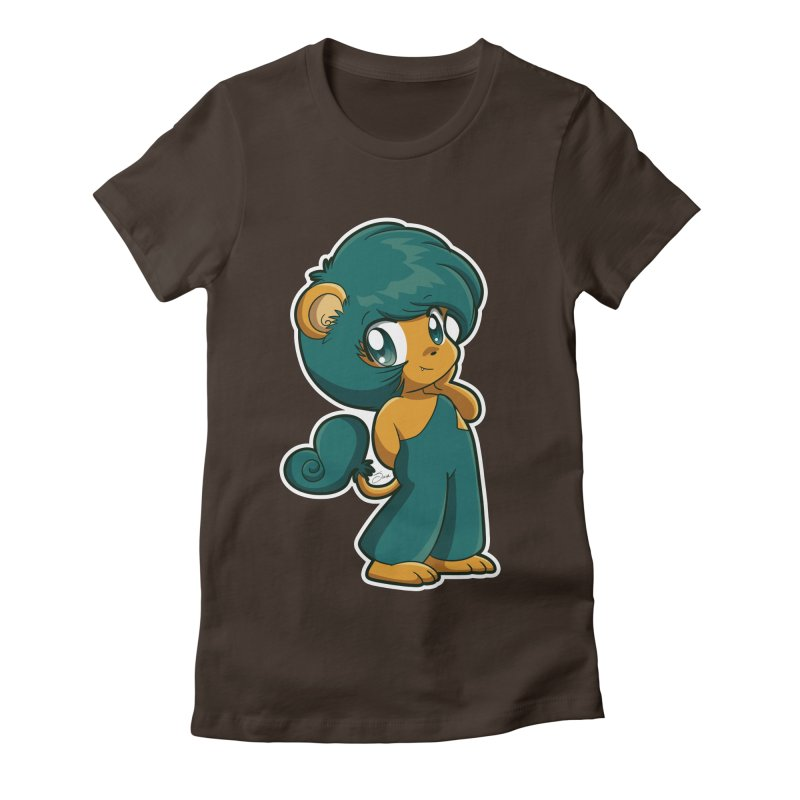 Orion the Lion Women's Fitted T-Shirt by Kappacino Creations