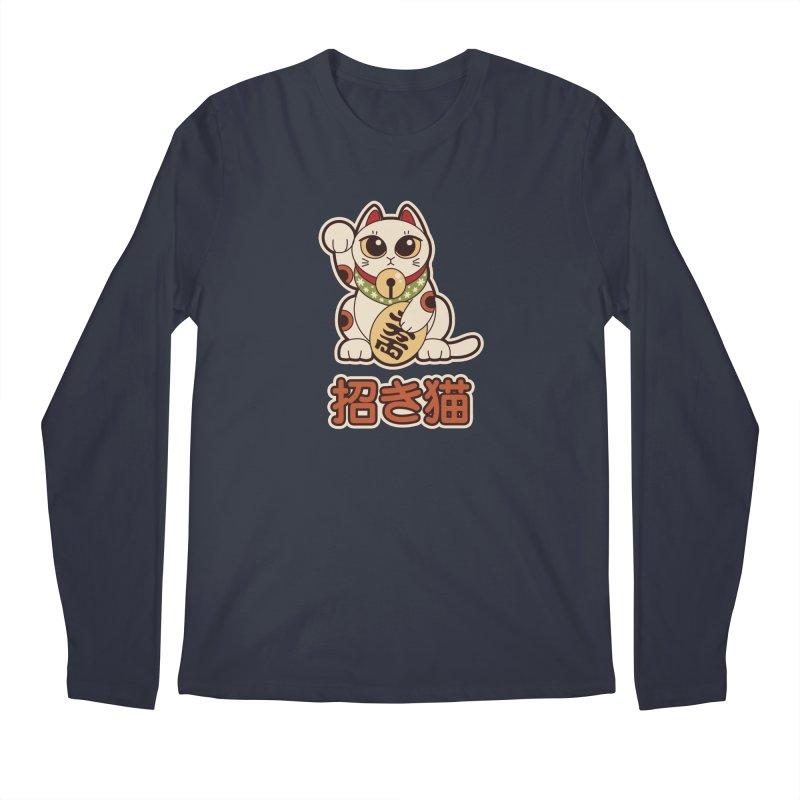 Maneki Neko Men's Regular Longsleeve T-Shirt by Kappacino Creations