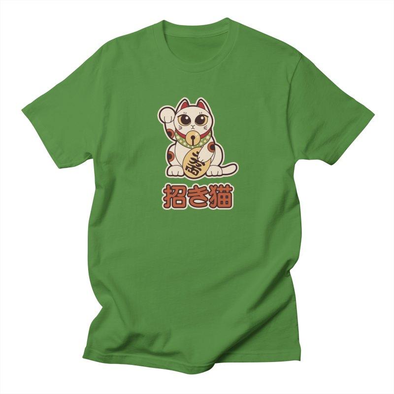 Maneki Neko Men's T-shirt by Kappacino Creations