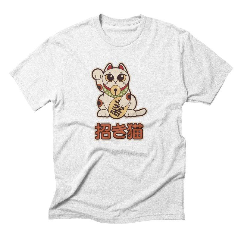 Maneki Neko Men's Triblend T-shirt by Kappacino Creations
