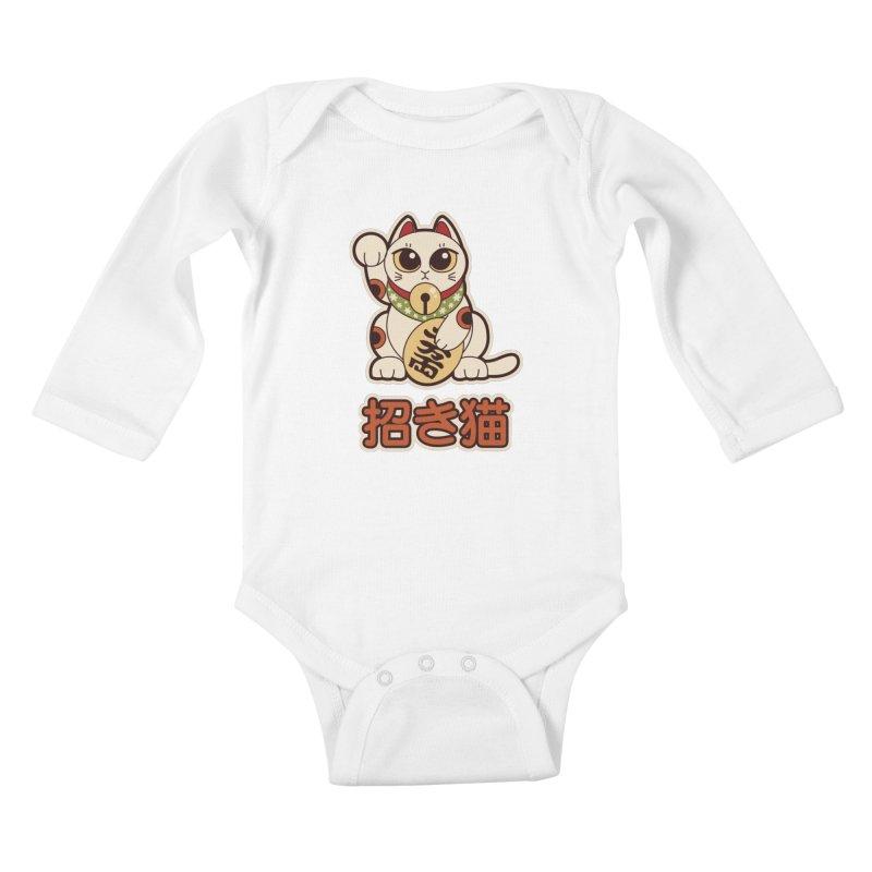 Maneki Neko Kids Baby Longsleeve Bodysuit by Kappacino Creations