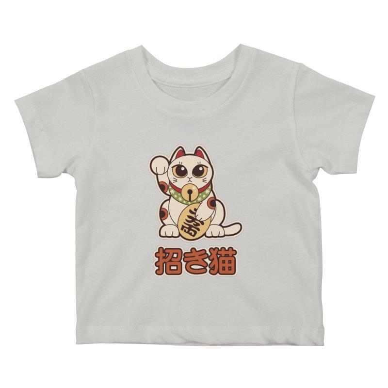Maneki Neko Kids Baby T-Shirt by Kappacino Creations
