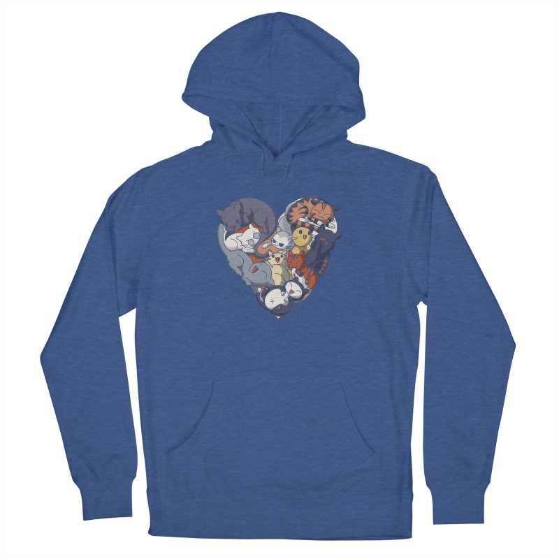 I Heart Cats! Women's Pullover Hoody by Kappacino Creations