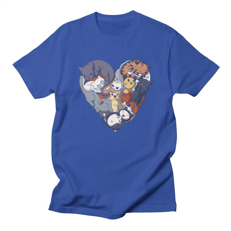 I Heart Cats! Men's T-Shirt by Kappacino Creations