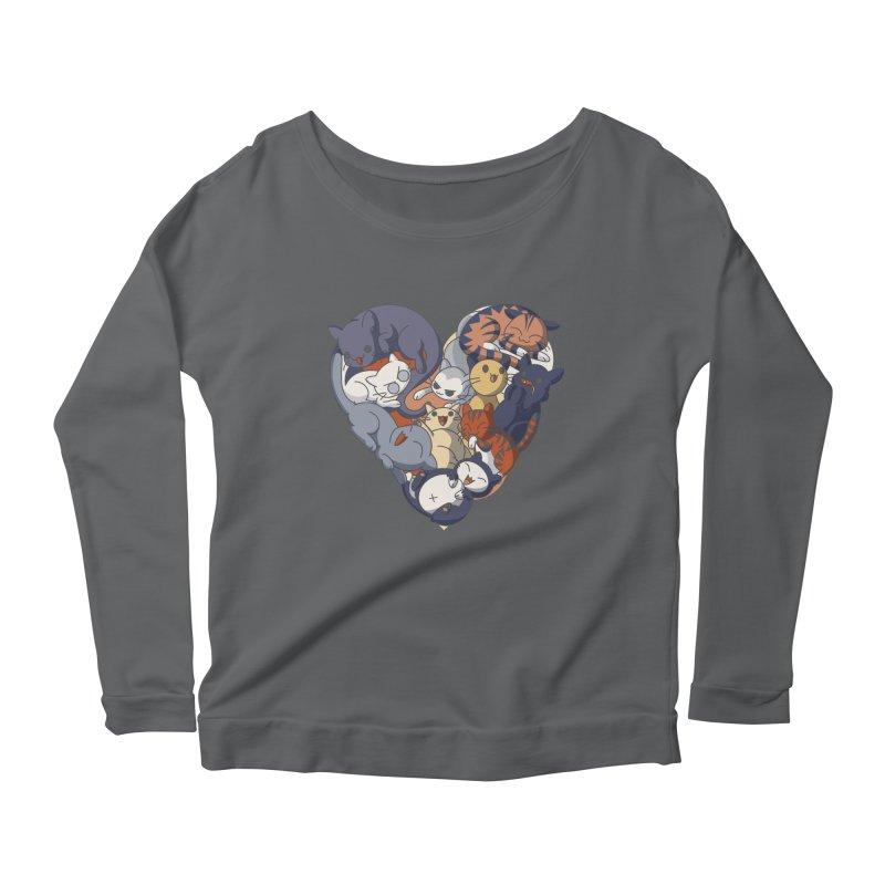I Heart Cats! Women's Longsleeve T-Shirt by Kappacino Creations