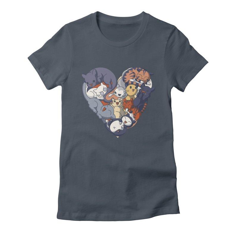 I Heart Cats! Women's T-Shirt by Kappacino Creations