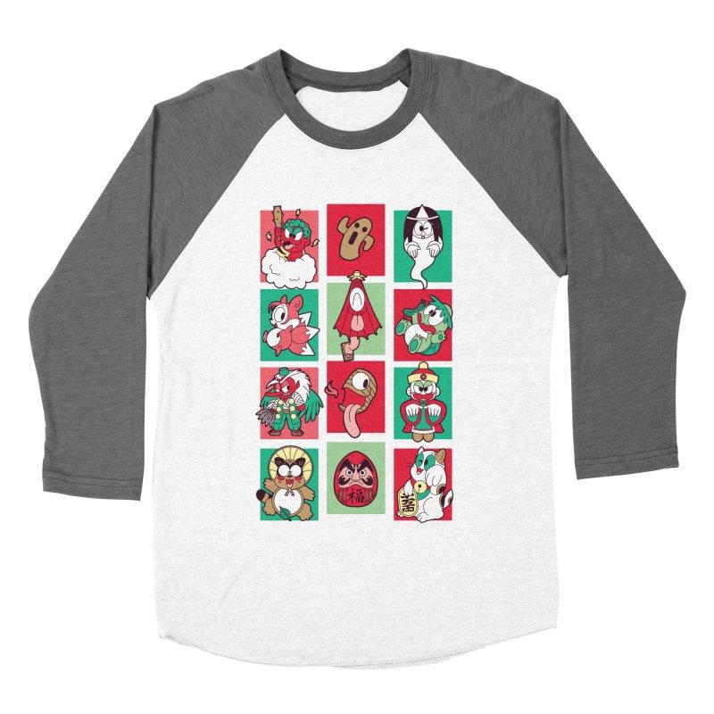 Things That Go Bump In Japan Women's Baseball Triblend Longsleeve T-Shirt by Kappacino Creations