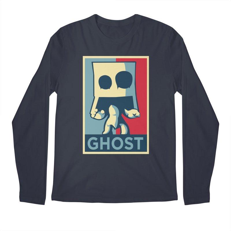 The Politics of BoxGhost Men's Regular Longsleeve T-Shirt by Kappacino Creations