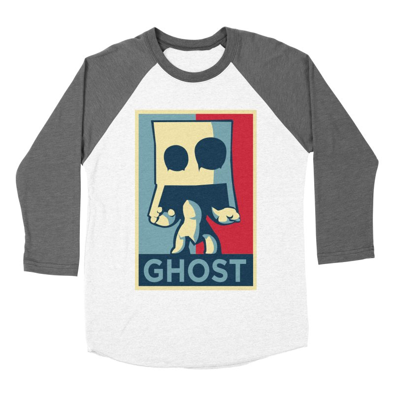 The Politics of BoxGhost Women's Baseball Triblend T-Shirt by Kappacino Creations