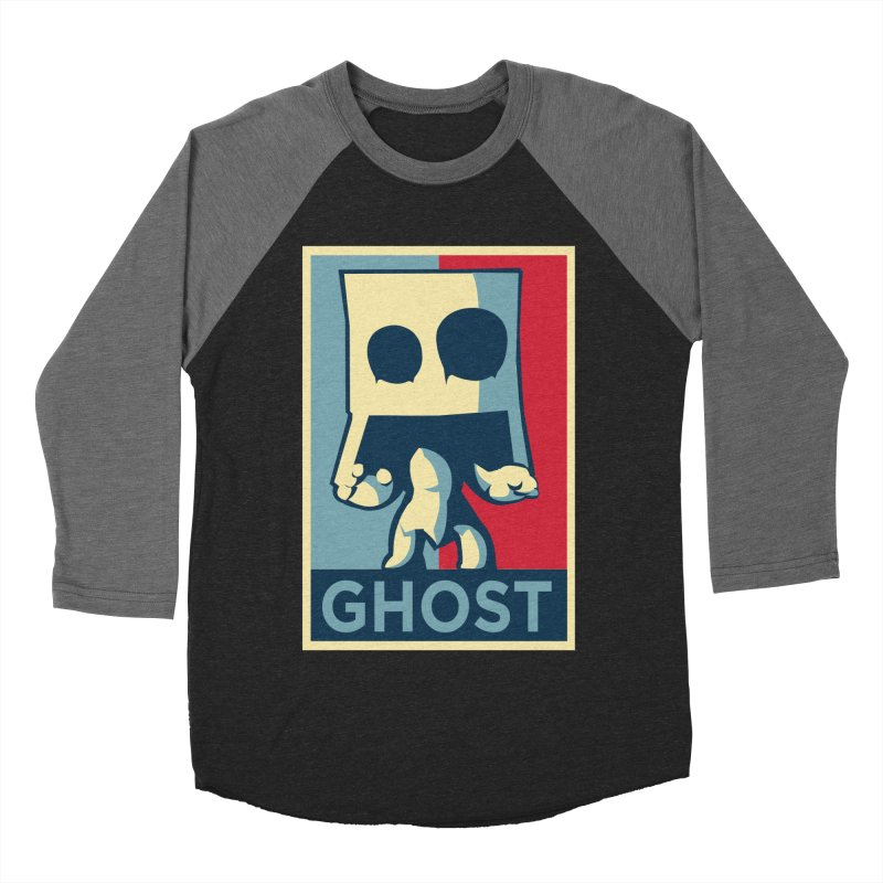 The Politics of BoxGhost Women's Baseball Triblend Longsleeve T-Shirt by Kappacino Creations