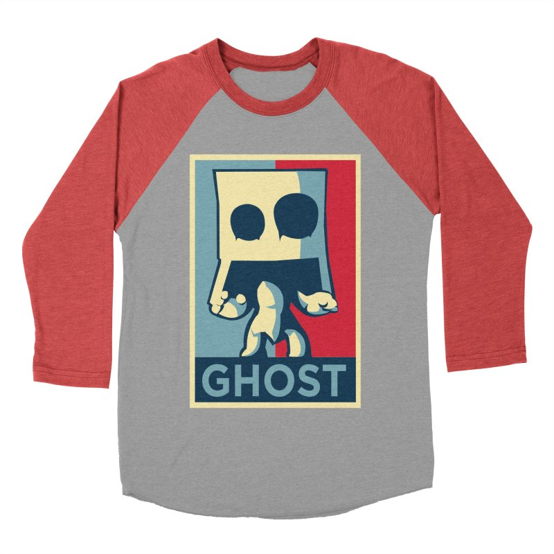The Politics of BoxGhost Men's Baseball Triblend Longsleeve T-Shirt by Kappacino Creations