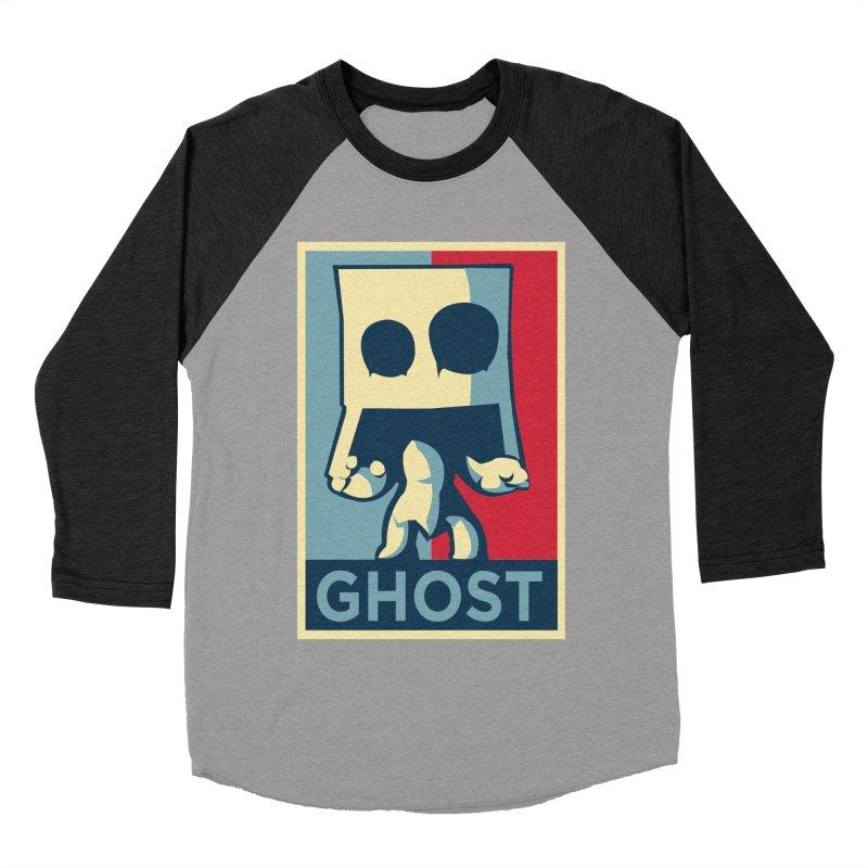 The Politics of BoxGhost Men's Baseball Triblend T-Shirt by Kappacino Creations