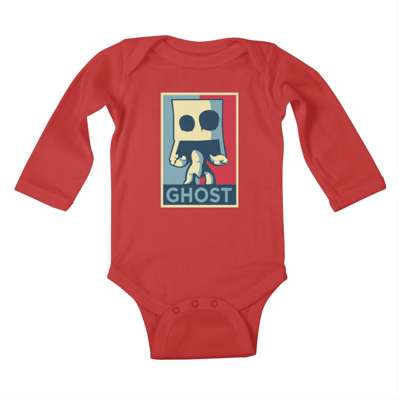 The Politics of BoxGhost Kids Baby Longsleeve Bodysuit by Kappacino Creations
