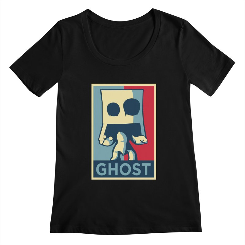 The Politics of BoxGhost Women's Scoopneck by Kappacino Creations
