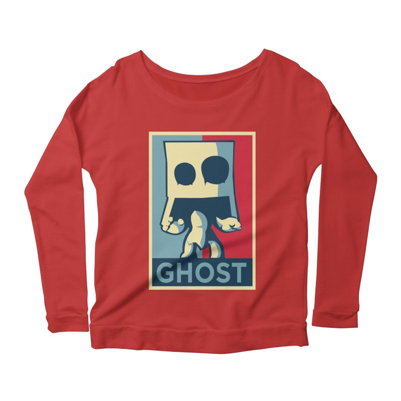 The Politics of BoxGhost Women's Longsleeve Scoopneck  by Kappacino Creations