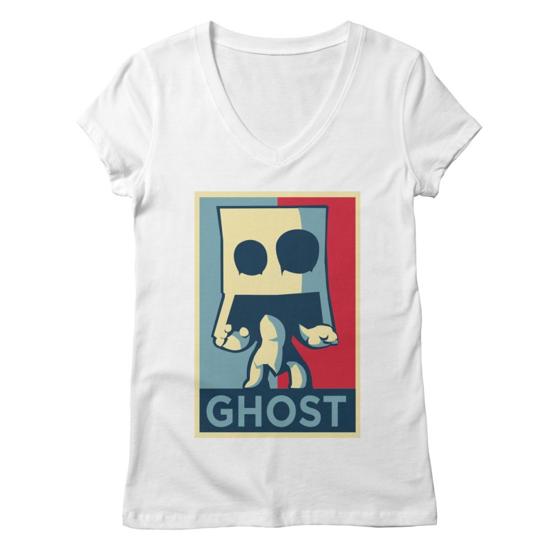 The Politics of BoxGhost Women's V-Neck by Kappacino Creations