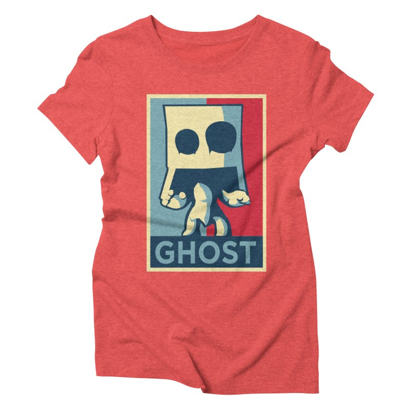 The Politics of BoxGhost Women's Triblend T-shirt by Kappacino Creations