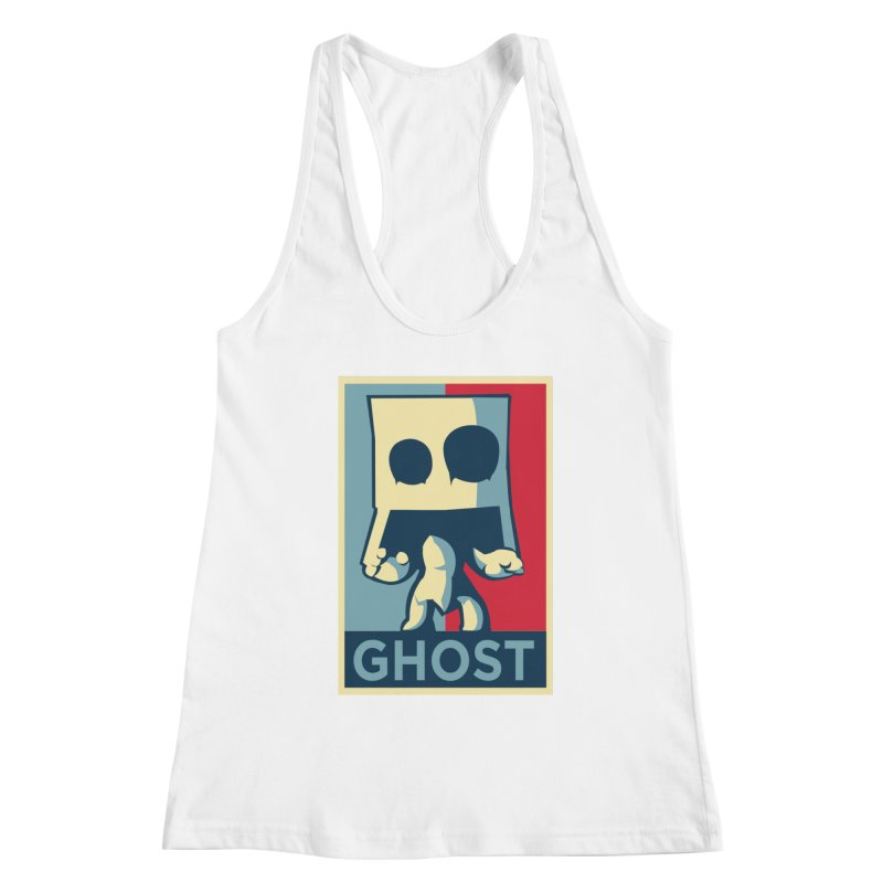 The Politics of BoxGhost Women's Racerback Tank by Kappacino Creations